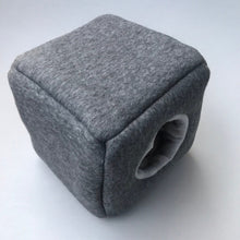 Load image into Gallery viewer, Fleece cosy cube house. Hedgehog and guinea pig bed. Fleece lined.