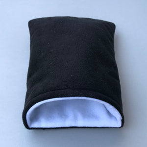 Fleece cosy snuggle cave. Padded stay open cave for hedgehogs. Fleece pet bed.