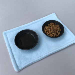 Food placemat. Absorbent food mat. Feeding mat. Set of placemats. Water bottle mat.