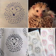 Load image into Gallery viewer, The Hoghouse white and black stay open padded fleece tunnel. Padded tunnel for hedgehogs