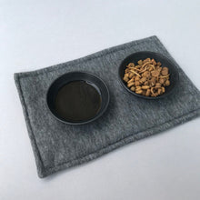 Load image into Gallery viewer, Food placemat. Absorbent food mat. Feeding mat. Set of placemats. Water bottle mat.