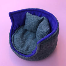Load image into Gallery viewer, Regular cuddle cup. Pet sofa for hedgehogs. Fleece sofa bed.