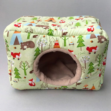 LARGE camping animals cosy bed. Cosy cube. Cuddle Cube. Snuggle house.