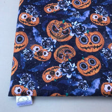Load image into Gallery viewer, LARGE pumpkin Halloween snuggle sack. Snuggle pouch/sleeping bag for hedgehogs and guinea pigs