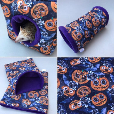 Pumpkin Halloween full set. Cosy cube bed, tunnel and snuggle sack.