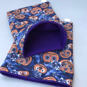 Pumpkin Halloween snuggle sack. Cuddle sack or stay open sack. Halloween bed.