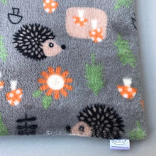 Load image into Gallery viewer, LARGE cuddle soft grey hedgehog or fox snuggle sack. Sleeping bag for hedgehogs and guinea pigs