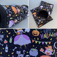 Load image into Gallery viewer, Happy Halloween mini set. Tunnel, snuggle sack and toys.