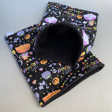 Load image into Gallery viewer, Happy Halloween snuggle sack, snuggle pouch, sleeping bag for hedgehogs