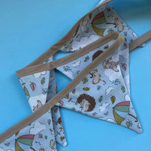 Load image into Gallery viewer, Blue Kite Hedgehog miniature bunting. Viv decorations. Cage decorations.