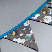 Load image into Gallery viewer, Grey Kite Hedgehog miniature bunting. Viv decorations. Cage decorations.