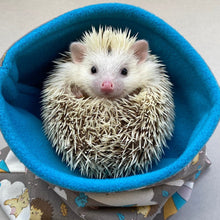 Load image into Gallery viewer, Grey Kite Hedgehog mini set. Tunnel, snuggle sack and toys. Fleece bedding.