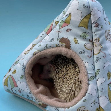 Blue Kite Hedgehog tent house. Hedgehog and small animal house.