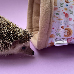 Hedgehog and friends full cage set. house, snuggle sack, tunnel cage set for hedgehogs.