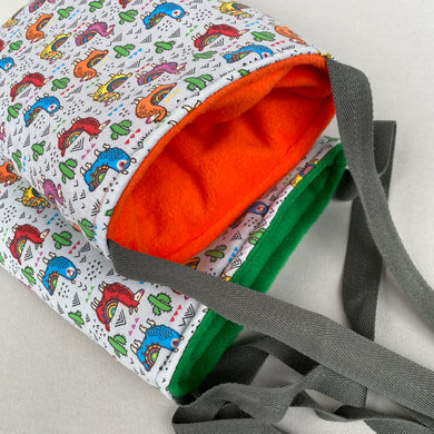 Drama Llama padded bonding bag, carry bag for hedgehogs. Fleece lined.