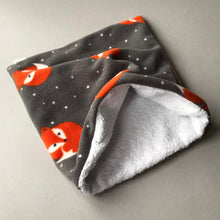Load image into Gallery viewer, LARGE Foxy bath sack set. Fleece post bath drying pouch for small animals.