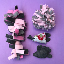 Load image into Gallery viewer, TOY BUNDLE #1: Toys for hedgehogs. Set of 4 or 8 fleece toys.