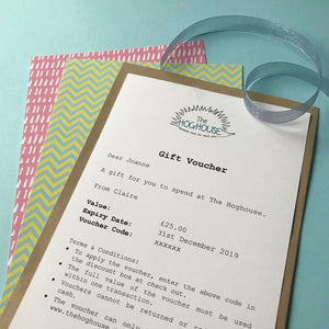 Gift Voucher for The Hoghouse