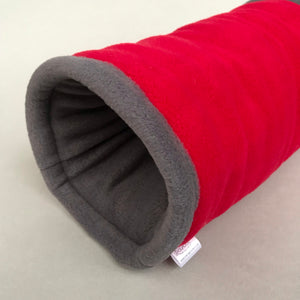 Regular stay open padded fleece tunnel. Padded tunnel for hedgehogs and guinea pigs.