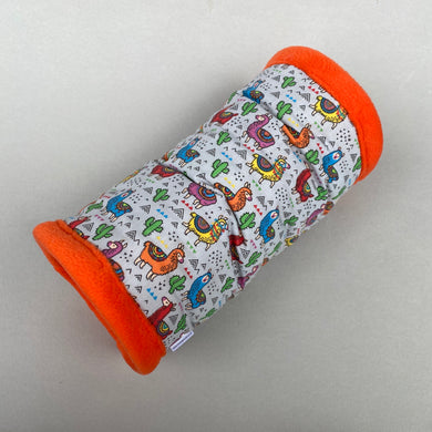 Drama Llama stay open padded fleece tunnel. Padded tunnel for hedgehogs and small pets.