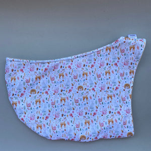 Hedgehog and friends bonding scarf for hedgehogs and small pets. Bonding pouch.