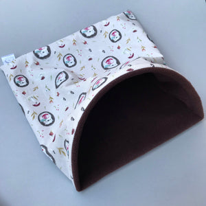 LARGE apple hedgehog snuggle sack for hedgehogs and guinea pigs.