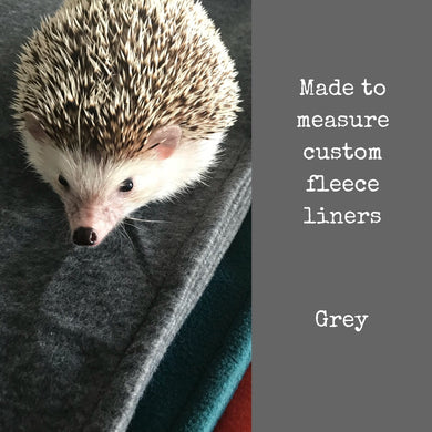 Custom size grey fleece cage liners made to measure - Grey