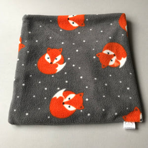 LARGE Foxy bath sack set. Fleece post bath drying pouch for small animals.