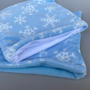 LARGE cuddle fleece snowflake snuggle sack.