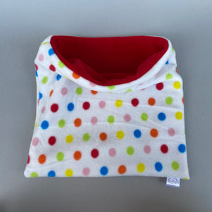 LARGE Polka Dot snuggle sack. Cuddle pouch for hedgehogs and guinea pigs.