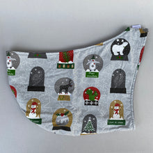 Load image into Gallery viewer, Christmas snow globe bonding scarf for hedgehogs and small pets. Bonding pouch.