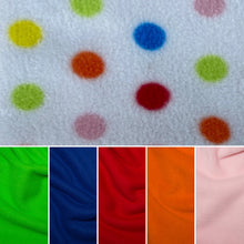 Load image into Gallery viewer, Polka Dot bath sack set. Fleece post bath drying pouch for small animals.