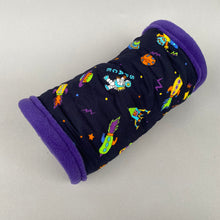 Load image into Gallery viewer, Space stay open padded fleece tunnel, bunting and toys.