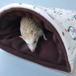 LARGE apple hedgehog cosy snuggle cave. Chunky hog or guinea pig padded snuggle cave.