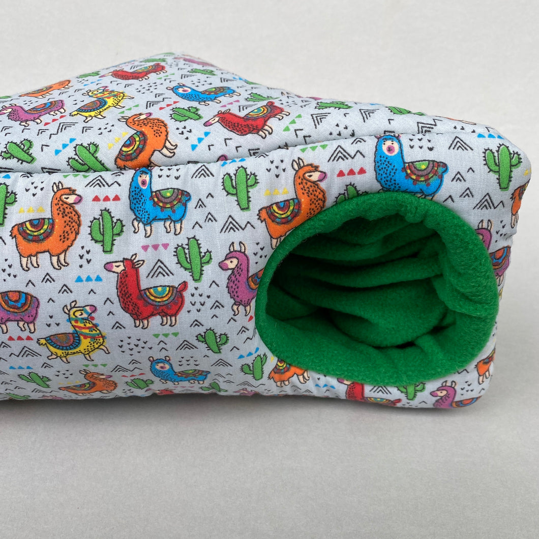 Drama Llama corner house. Hedgehog and small pet house. Padded fleece lined house.