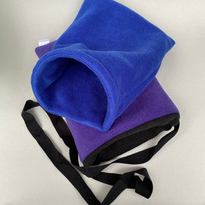 Fleece padded bonding bag and stay open snuggle sack, carry bag for hedgehogs.
