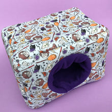 Load image into Gallery viewer, LARGE magical wizard cosy bed for guinea pigs. Padded house for guinea pigs.