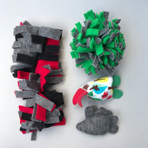 TOY BUNDLE #1: Toys for hedgehogs. Set of 4 or 8 fleece toys.