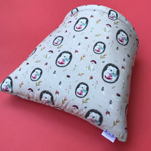 Load image into Gallery viewer, LARGE apple hedgehog cosy snuggle cave. Chunky hog or guinea pig padded snuggle cave.