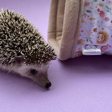 Load image into Gallery viewer, Hedgehog and freinds stay open tunnel. Padded fleece tunnel. Padded tunnel