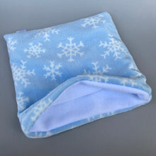 Load image into Gallery viewer, LARGE cuddle fleece snowflake snuggle sack.