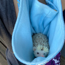 Load image into Gallery viewer, Floating fox bonding scarf for hedgehogs and small pets. Bonding pouch.
