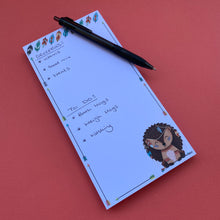 Load image into Gallery viewer, Hedgehog notepad. 100 Sheets. DL 105 x 210mm
