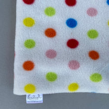 Load image into Gallery viewer, Polka Dot bath sack. Post bath drying pouch for small animals.