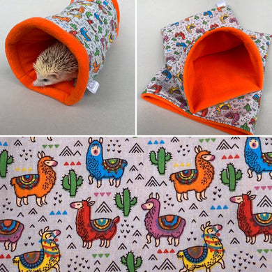 Drama Llamas mini set. Tunnel, snuggle sack and toys.