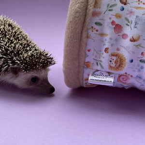 Hedgehog and freinds stay open tunnel. Padded fleece tunnel. Padded tunnel