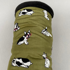 Green dog stay open padded fleece tunnel. Padded tunnel for hedgehogs and small pets.