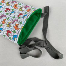 Load image into Gallery viewer, Drama Llama padded bonding bag, carry bag for hedgehogs. Fleece lined.