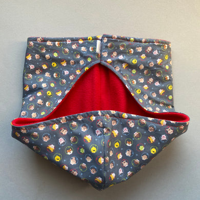 Little Astronauts bonding scarf for hedgehogs and small pets. Bonding pouch.