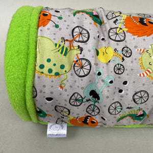 Cycling monsters stay open padded fleece tunnel.